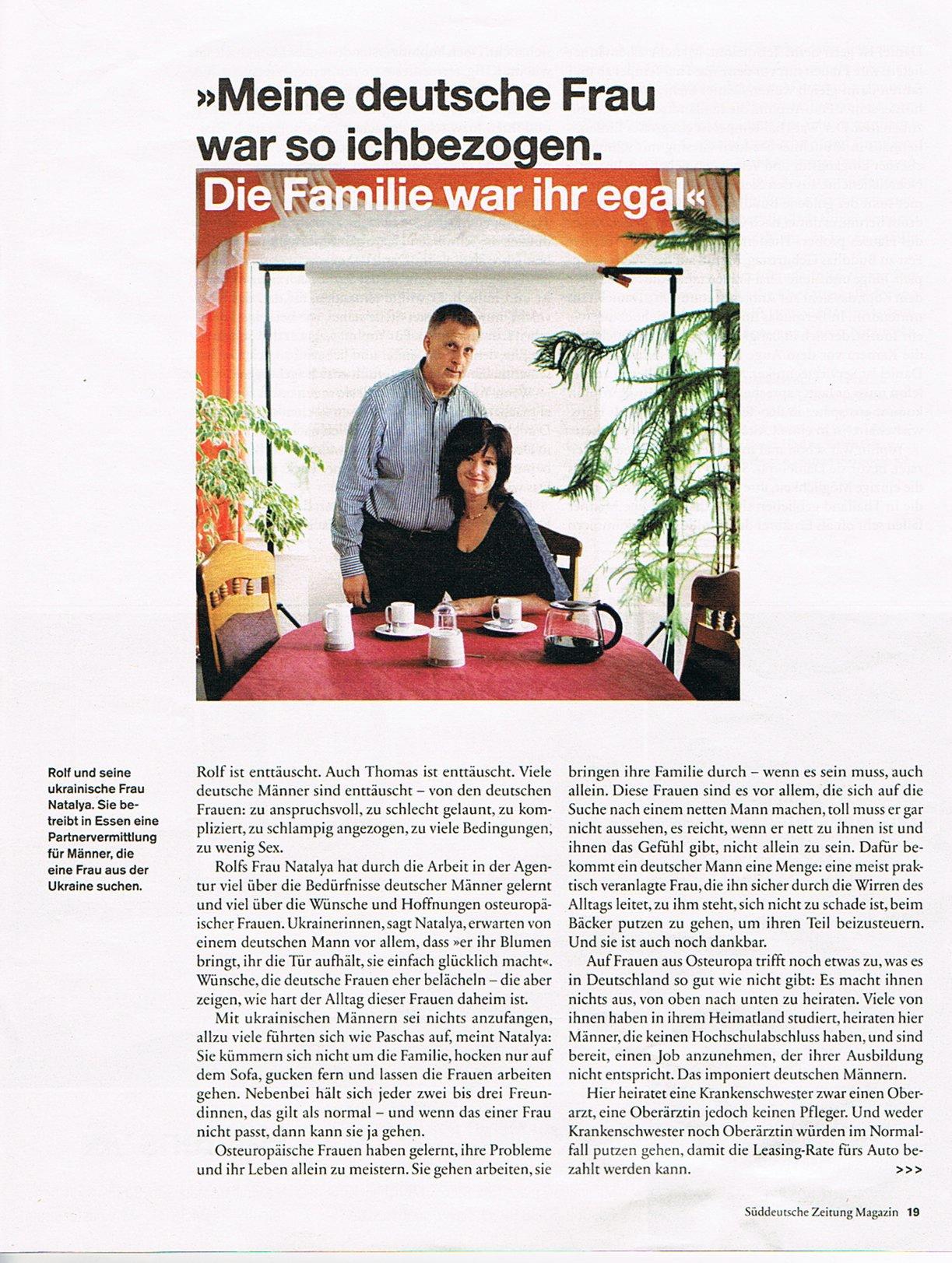 Süddeutsche zeitung partnervermittlung